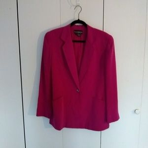 EUC Vintage Biz Claiborne silk blazer, fuschia